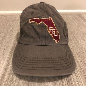 FSU Seminoles Hat Gray Tailgate Hat Florida VTG